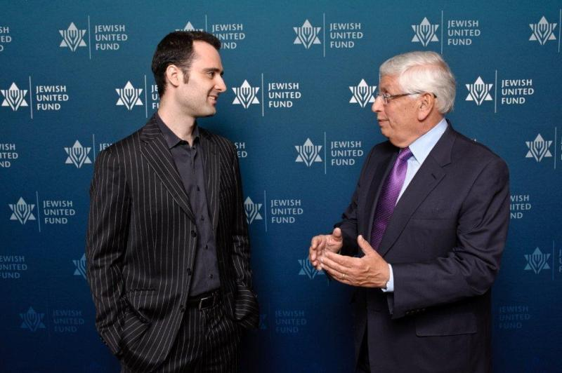 David Lisker with former NBA Commissioner, David Stern
